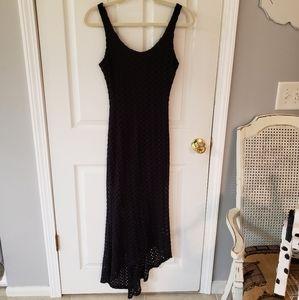 Black Lace Halter Dress